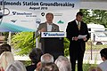 Edmonds Station Groundbreaking Mukilteo mayor Joe Marine (4974765175).jpg