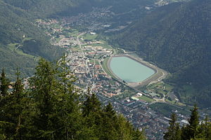 Hydroelectricity in Italy - The lower reservoir of Edolo pumped storage plant