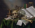 Edwaert Collier - Vanitas - Still Life with Books and Manuscripts and a Skull - Google Art ProjectFXD.jpg
