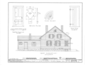 Edwards-Webb House, 303 Monroe Street, Northwest; moved from 259 South Street, Southeast, Warren, Trumbull County, OH HABS OHIO,78-WAR,2- (sheet 4 of 7).png