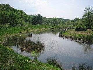 Edwards Run river in the United States of America