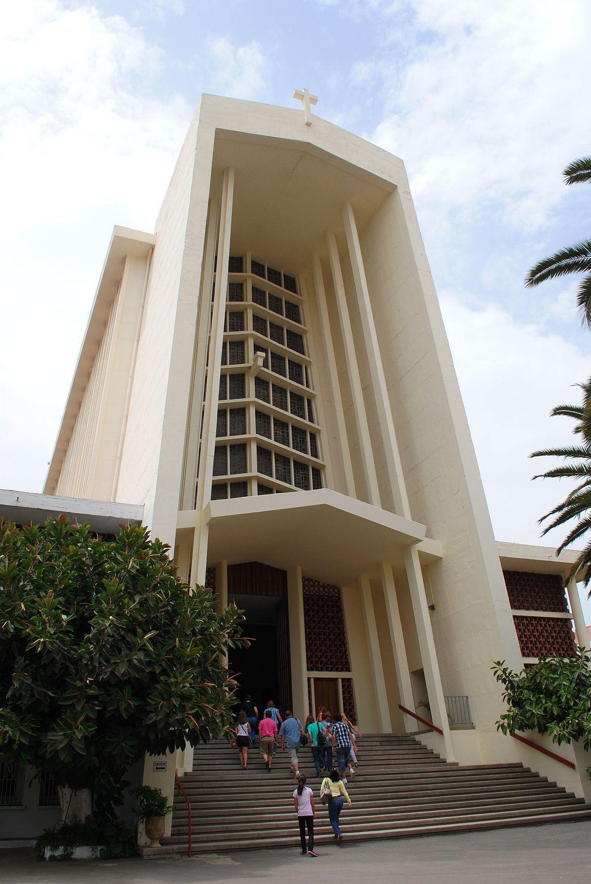 1200px Eglise N.D. de Lourdes%2C Casablanca%2C Dioc%C3%A8se de Rabat%2C Maroc