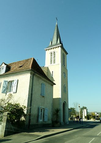 Biron, Pyrénées-Atlantiques - The church of Biron