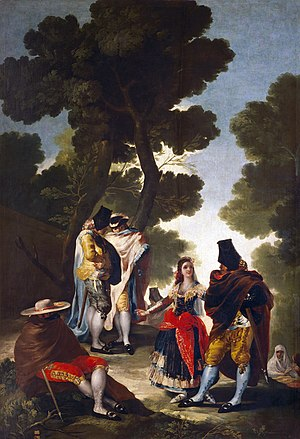 Majo - El paseo por Andalucía, by Francisco de Goya, depicts both majas and majos.