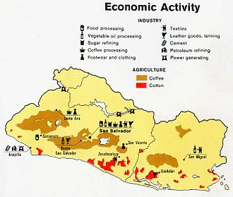 Geography of El Salvador - Economic activity of El Salvador, 1980.