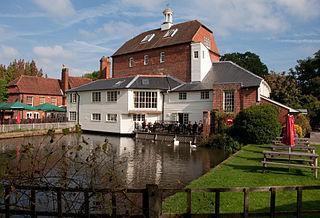 Elstead farm village in the United Kingdom