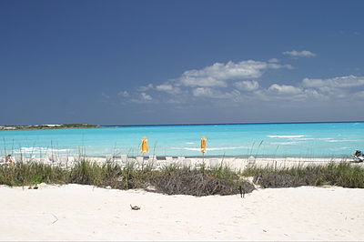Playa en Emerald Bay, Great Exuma, Bahamas