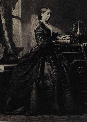 Waller family (Kent) - Miss Emily Waller (1835-1919), albumen print, 27 June 1862, aka Mrs Edward William Boudier.