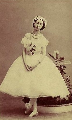 La Sylphide - Emma Livry in the title role of the Taglioni/Schneitzhoeffer La Sylphide. Paris, 1862