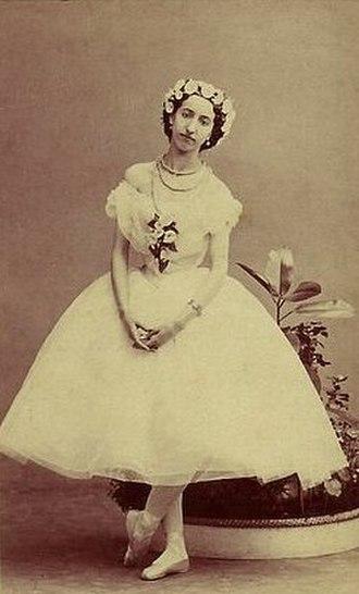 La Sylphide - Emma Livry in the title role of the Taglioni/Schneitzhoeffer La Sylphide. Paris, 1862