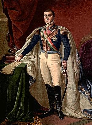 José Antonio Vizcarra - Agustin de Iturbide as Emperor of Mexico