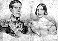 Emperor Pedro II and Teresa Cristina 1843.jpg