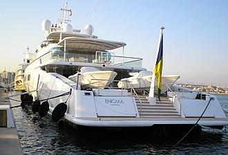 Enigma (yacht) - Rear view of Enigma (Palma de Mallorca, 2006)