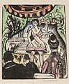 Ernst Ludwig Kirchner, Kleines Variete mit Sängerin. 1912. Woodcut, colored..jpg