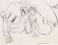 Ernst Ludwig Kirchner - Zwei Frauen und Skulptur am Strand.jpeg
