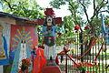 Escultura de Gauchito Gil cerca de La Chacarita.JPG