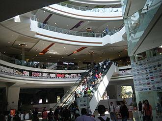 Forum Buenavista - Escalators from Buenavista train station up to the shopping levels of the Forum Buenavista