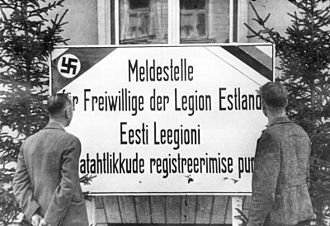 Collaboration with the Axis Powers - The recruiting center for the Waffen SS Estonian Legion
