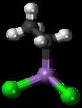 Ethyldichloroarsine molecule ball.png