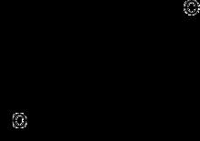 Skeletformulo de etiokolanolono