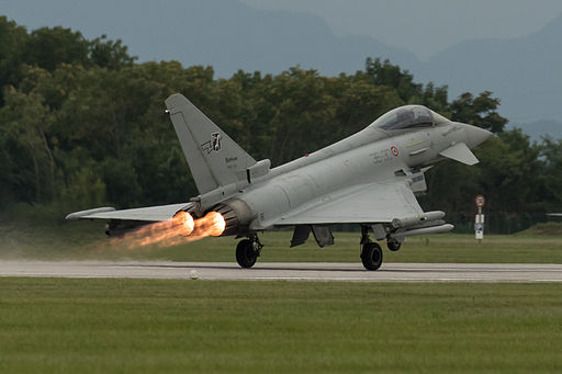 Eurofighter EF-2000 Typhoon S MM7280 (cn IS012) full AB takeoff (21902983170)
