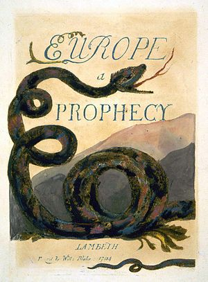 Orc (Blake) - Image: Europe a Prophecy copy B 1794 Glasgow University Library Title object 2