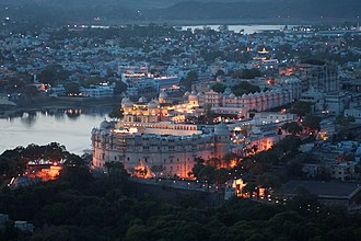 Udaipur - Image: Evening view, City Palace, Udaipur