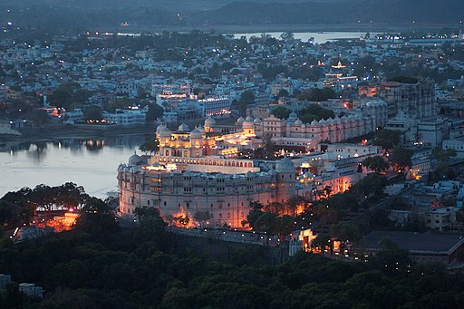 Evening view, City Palace, Udaipur