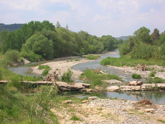 Eurotas (river) - Eurotas outside the city of Sparta