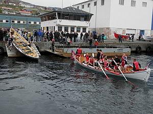 Eystanstevna 2012 boats in the harbour of Runavik.JPG