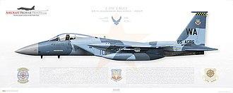 65th Aggressor Squadron - F-15C Eagle 57th Wg 65th Aggressor Squadron AW 080010 - Nellis AFB NV - 2007