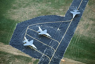 Military deception - Dummy airbase and mock aircraft