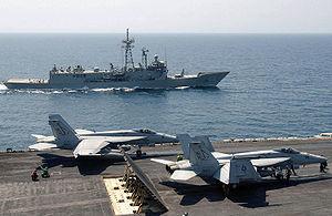 Australia–United States relations - Image: FA 18 Super Hornet VFA 14