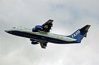 Met Office - FAAM BAe146-300 takes off at RIAT, RAF Fairford, England
