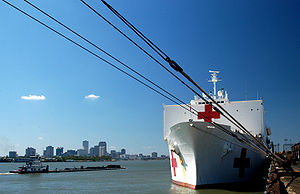 USNS Comfort (T-AH-20) - USNS Comfort in New Orleans after Hurricane Katrina