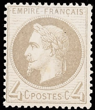 Albert Désiré Barre - Napoleon III stamp designed by Barre