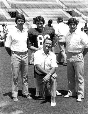 Terry Bowden - Bobby Bowden and sons pictured in 1982. Terry Bowden is on the far right