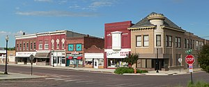 Fairbury, Nebraska - Downtown: west side of D Street