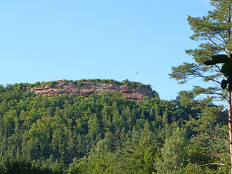 Falkenburg Castle (Palatinate) - The Falkenburg from the southwest