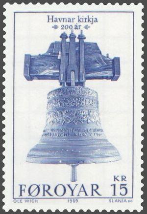 Norske Løve (1704) - The bell of the Norske Løve in Tórshavn Cathedral.