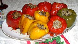 definition of stuffed peppers