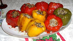 Cuisine of the Sephardic Jews - Rice-stuffed peppers