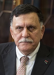 Fayez al-Sarraj in Washington in 2017