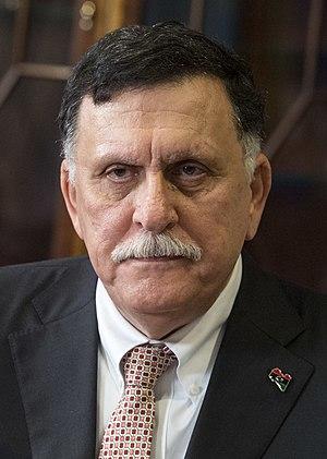 Fayez al-Sarraj in Washington in 2017