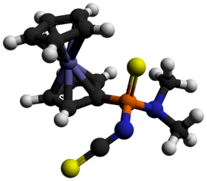 Organophosphate - One of the products of the reaction of Fc2P2S4 with dimethyl cyanamide