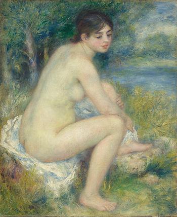 Femme Nue dans un Paysage, by Pierre-Auguste R...
