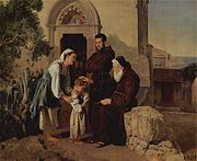 At the monastery gate (Am Klostertor) by Ferdinand Georg Waldmüller.