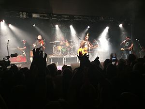 Ferocious Dog - Ferocious Dog on stage at Rock City, Nottingham in November 2015