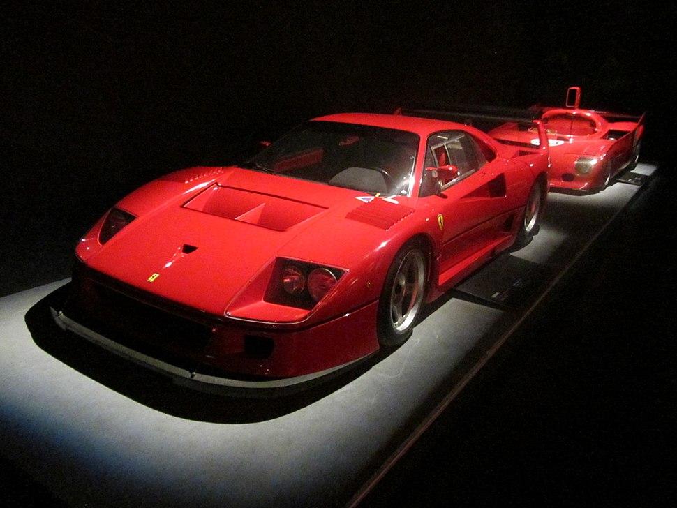 Ferrari F40 e ALFA ROMEO 33 TT 12 al Museo Nazionale dell'automobile di Torino