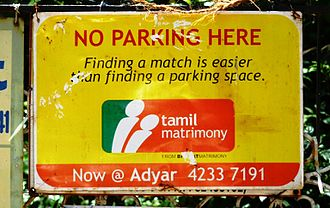 Matchmaking - Advertisement for a matchmaking service Chennai, India